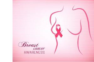 Breast cancer pink background