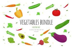 12 Vegetabeles vector set
