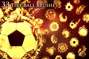 33 Fireball Brushes