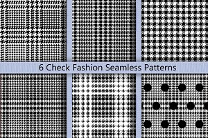 6 Check Seamless Patterns