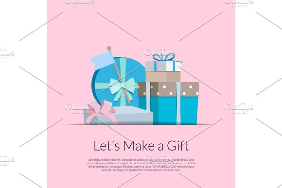 Vector Gift Boxes Or Packages Pile
