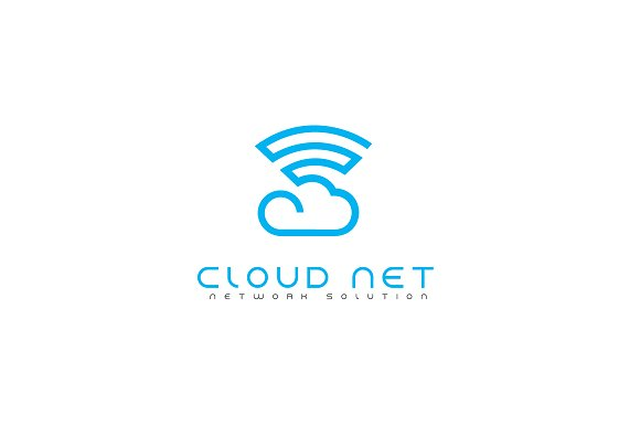 Cloud Net Logo Template