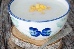 Colombian Mazamorra in ceramic bowl