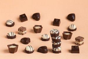 beautiful design chocolates in nice box
