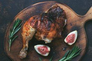 Toasted chicken leg.