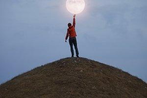 Reaching the Moon.