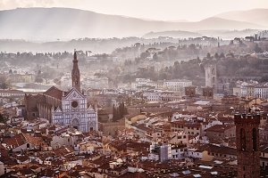Italy, Florence at sunrise