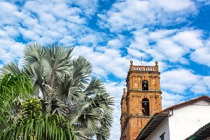 Barichara Cathedral and Trees