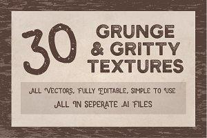 Grunge & Grit Textures (30 Vectors)