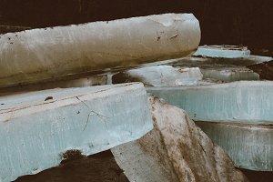 Crystal ice block