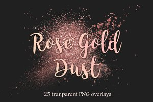 Rose gold dust