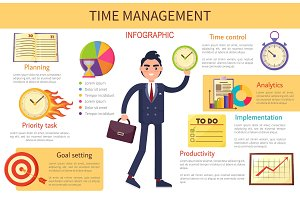 Time Management Planning Control Bright Banner