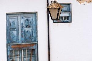 Streetlight Hanging in Barichara