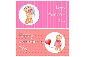 Happy Valentine Day Collection Vector Illustration