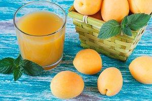 Ripe orange apricots
