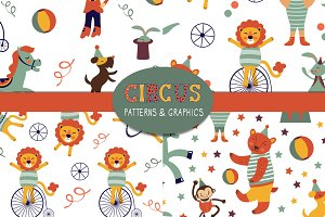 Circus graphics and patterns