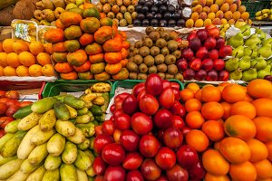 Exotic Fruits in a Market