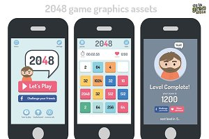 2048 Game Style Gui Assets