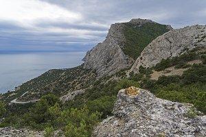 Mountains on the Black Sea coast