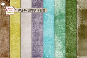 Full-On Shabby {four} digital papers