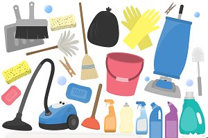 Cleaning Clipart Collection