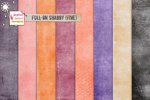 Full-On Shabby {five} digital papers