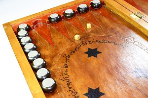 Backgammon. Backgammon handmade.
