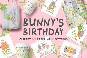 Bunny's birthday Clip Art