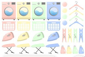 Laundry Clipart Collection