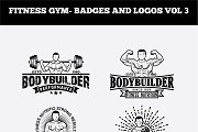 FITNESS GYM- BADGES AND LOGOS VOL3