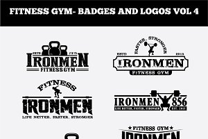 FITNESS GYM- BADGES AND LOGOS VOL4