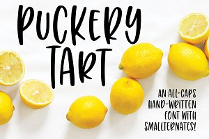 Puckery Tart: a tasty lettering font
