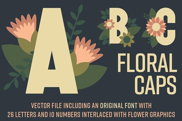 Floral Caps ~ Display Font
