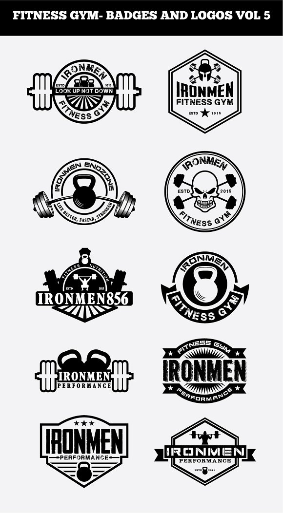 FITNESS GYM- BADGES AND LOGOS VOL5
