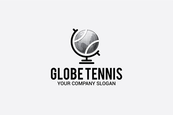 globe tennis in Logo Templates - product preview 1