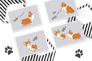 Lovely Corgi Dogs: cliparts & more