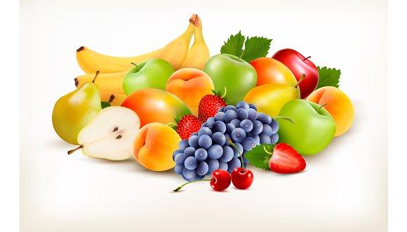 Fresh Juicy Fruit And Berries