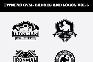 FITNESS GYM- BADGES AND LOGOS VOL 6