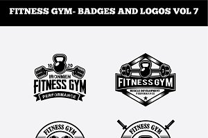 FITNESS GYM- BADGES AND LOGOS VOL 7