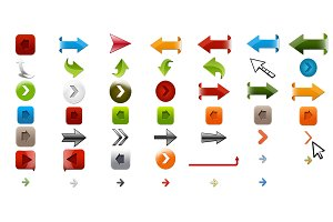 49 colorful PNG Arrows+PSD Files