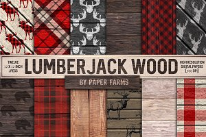 Rustic lumberjack backgrounds