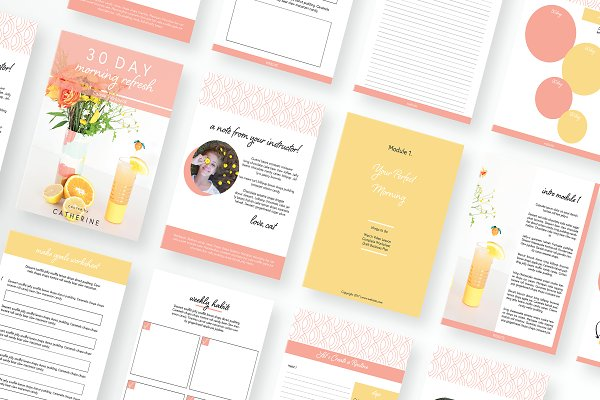 Happy Chic Workbook Canva or Adobe
