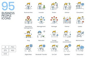 95 Business People Icons
