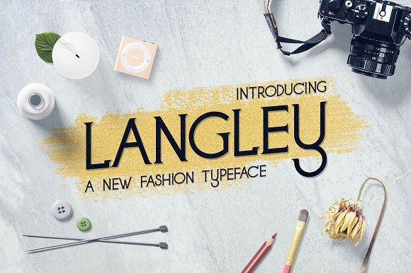 Langley New Fashion Typeface
