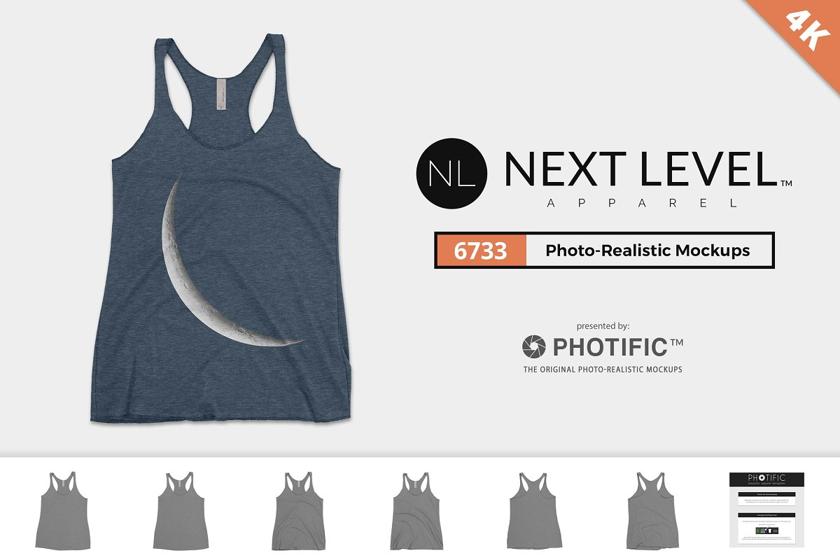 c85403ba162c6 Next Level 6733 Womens Triblend Tank ~ Product Mockups ~ Creative Market