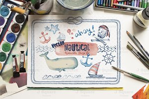 Watercolor Nautical VECTOR Arts