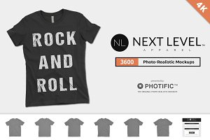 Next Level 3600 T-Shirt Mockups