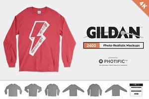 Gildan 2400 Long Sleeve Mockups