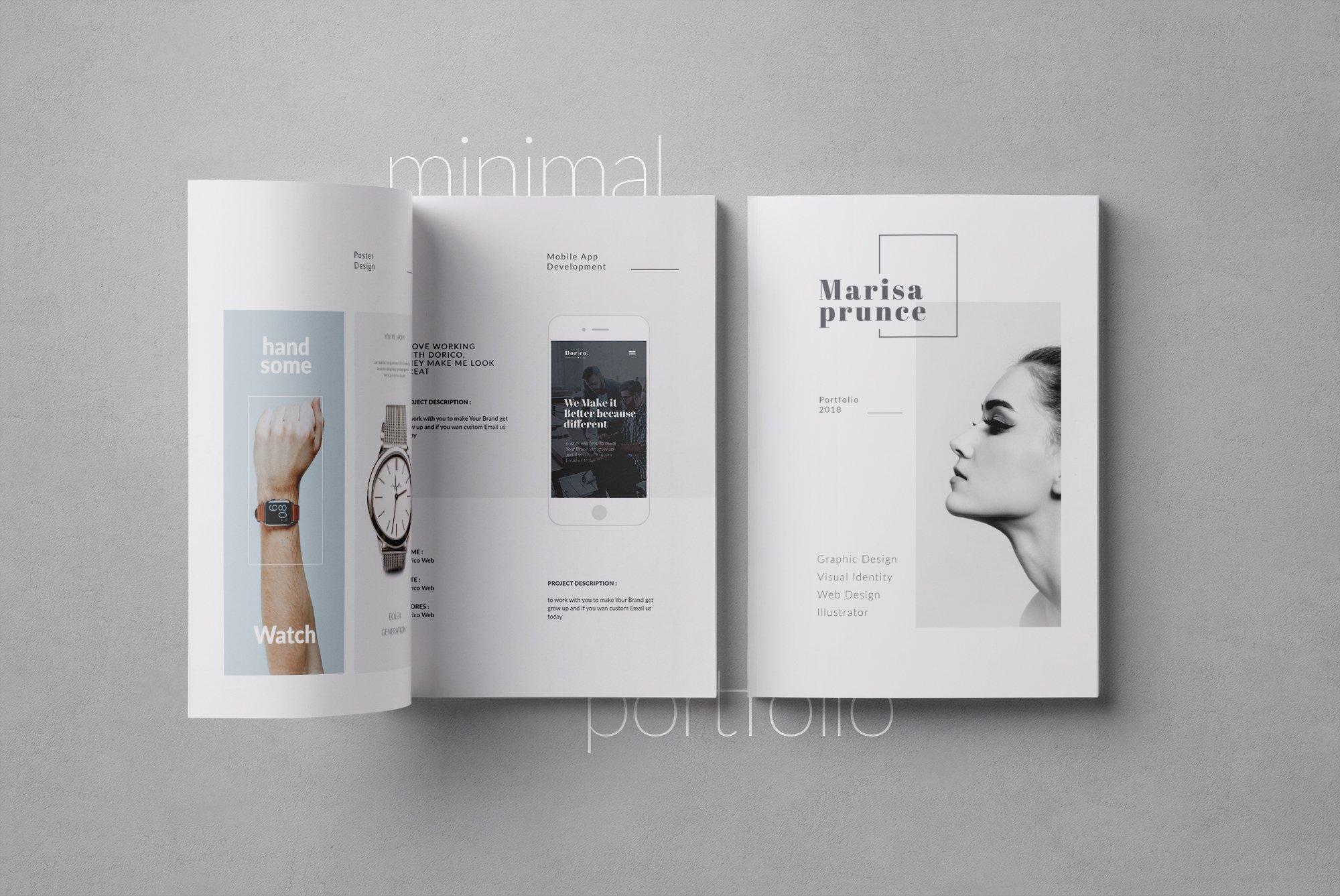 portfolio brochure templates creative market. Black Bedroom Furniture Sets. Home Design Ideas