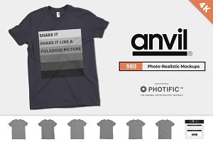 Anvil 980 Fashion T-Shirt Mockups